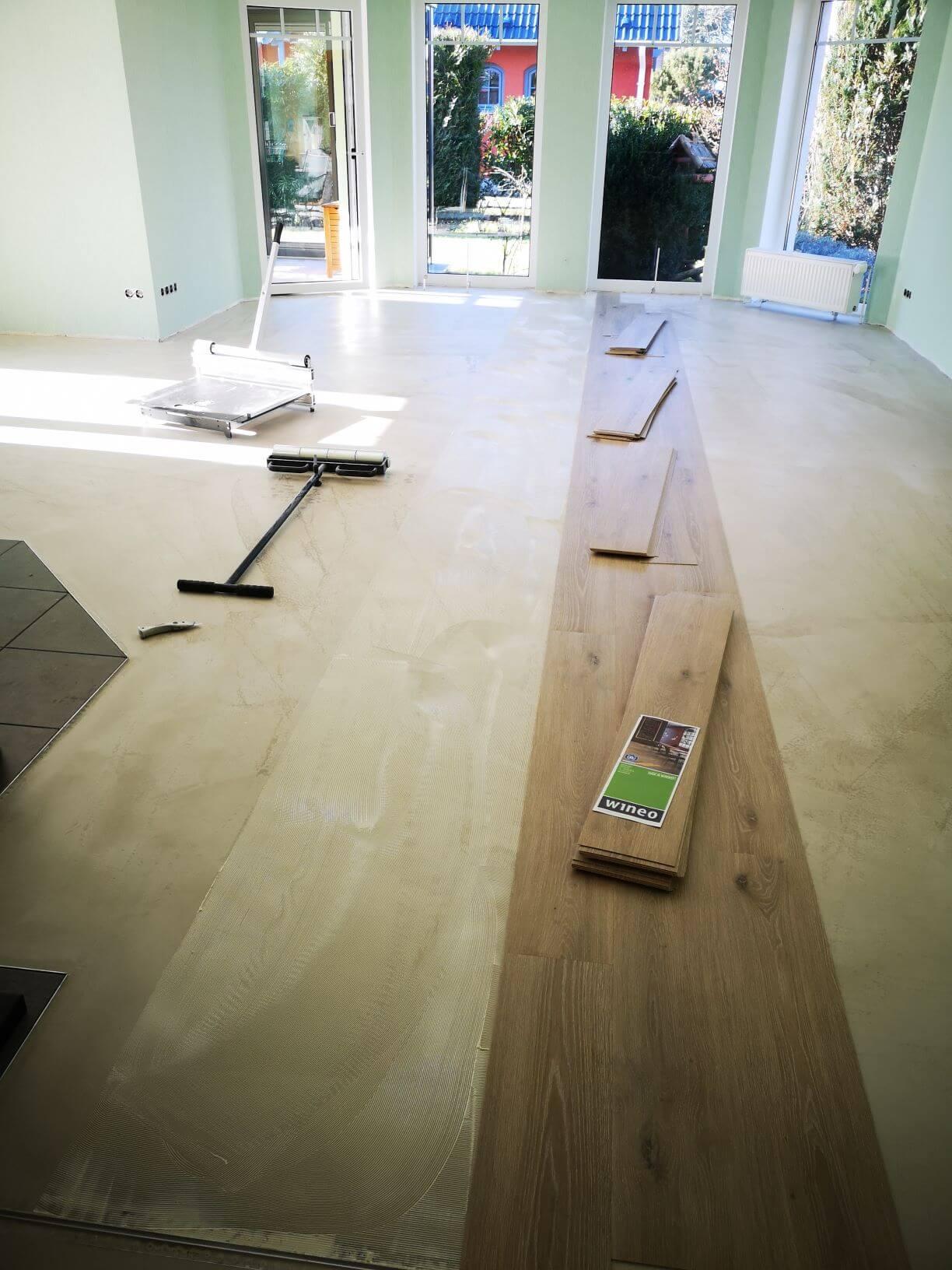 Wineo Bioboden 1000 Wood Island Oak Sand Bioboden verlegen