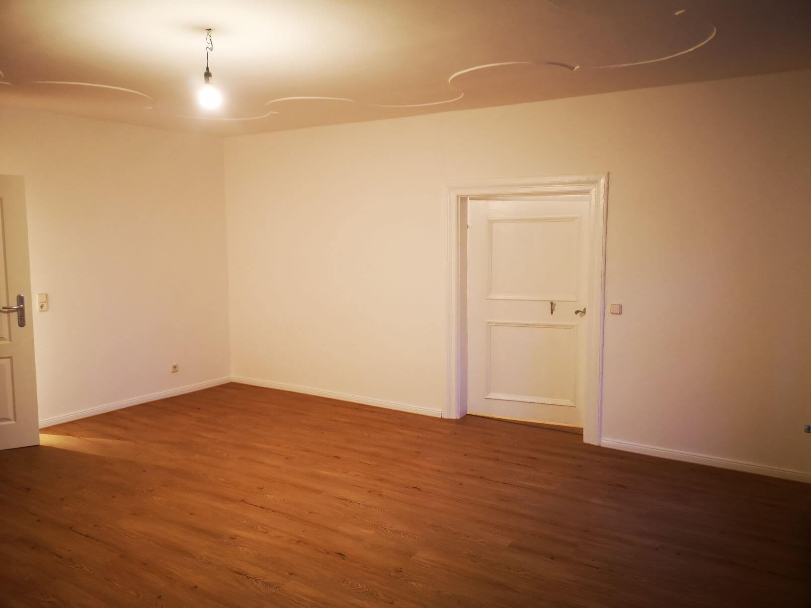 Wohnzimmer alte Tür freigelegt und aufgearbeitet